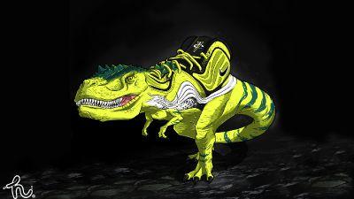 "Nike Air Penny 5 ""Volt Dinosaur"""