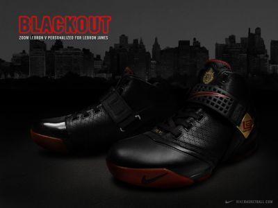 Nike Zoom LeBron V (blackout)
