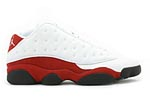 Air Jordan XIII 13 Low White Red
