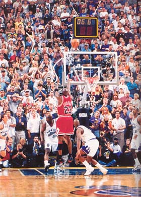 Michael Jordan: the shot