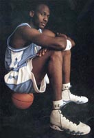 Nike AJ 9 UNC Champ Advertisement