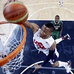 russell westbrook - Nike Hyperfuse 2012 Olympic dunk