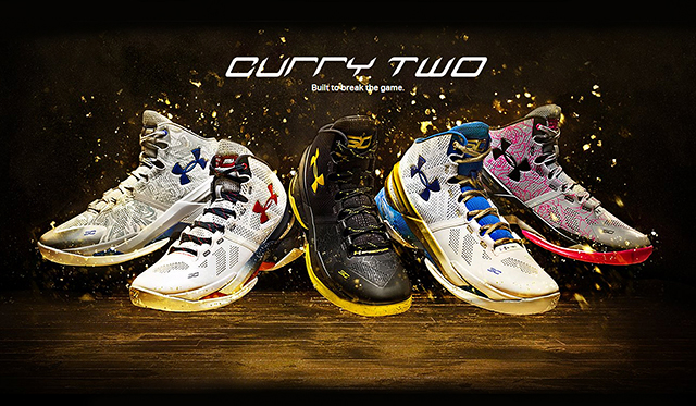 Under Armour Curry 2 colourways