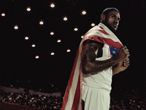 LeBron James USA flag